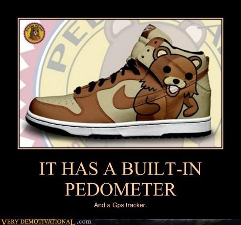 gps hilarious pedobear pedometer shoe - 6297978368