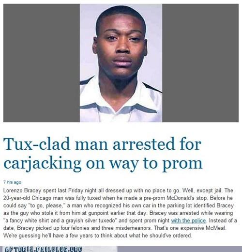 carjack carjacking gunpoint limo McDonald's prom tuxedo - 6297985280