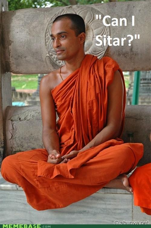 Memes monk puns sitar - 6298046976