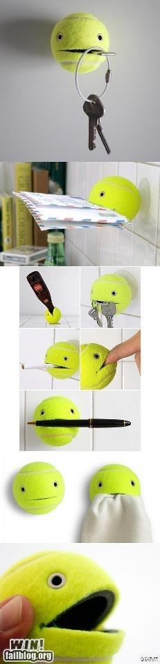 clever cute design tennis ball