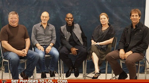 avery brooks,captains,enterprise,generations,kate mulgrew,patrick stewart,scott bakula,Star Trek,William Shatner