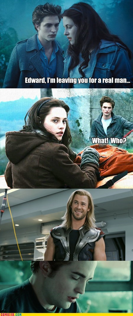 best of week,From the Movies,kristen stewart,robert pattison,Thor,twilight