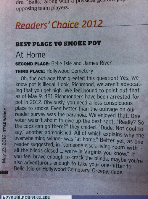 Richmond, VA: Where You Can't Talk About Pot Openly