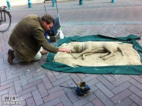 art dogs pet sand sculpture Street Art - 6298397184