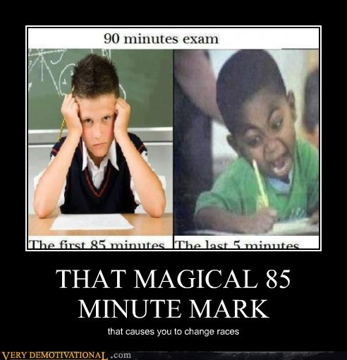 85 minutes,exam,hilarious,racist,wtf