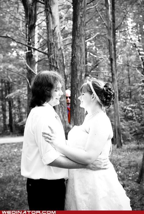 bride funny wedding photos groom photobomb - 6298774784