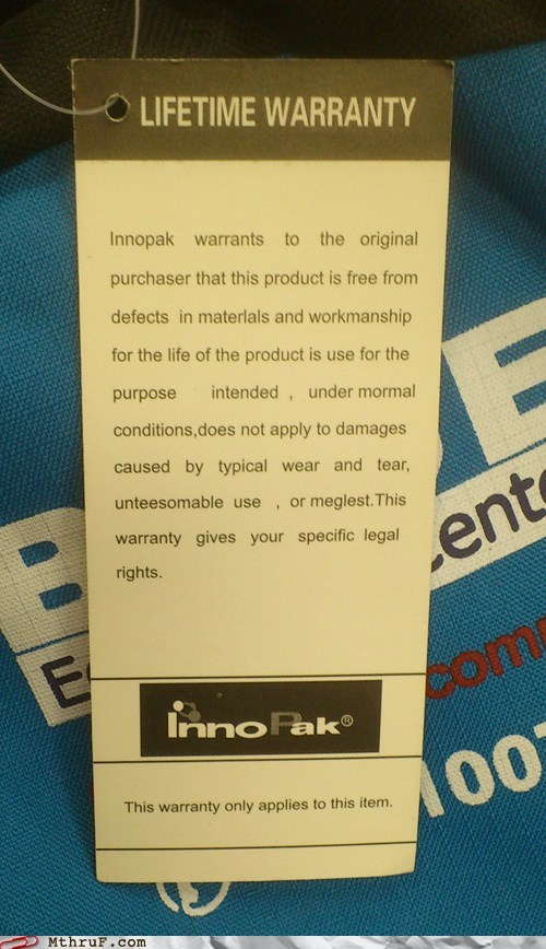 innopak lifetime warranty typical wear and tear void voided warranty wear and tear - 6298847488