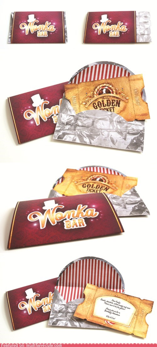 chocolate bar golden ticket printable Willie Wonka winner - 6299412480