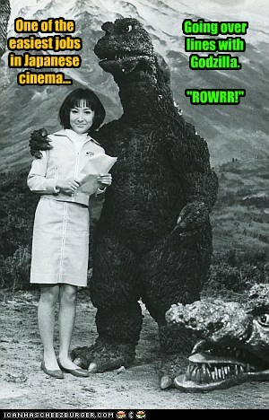 godzilla japanese movies easy jobs lines rowr roar