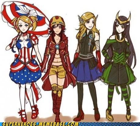 avengers Awesome Art girls style - 6299911680