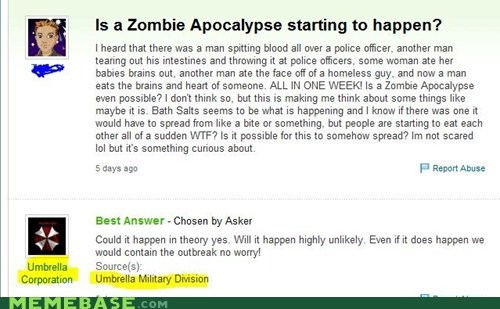 resident evil umbrella corporation video games Yahoo Answer Fai Yahoo Answer Fails zombie