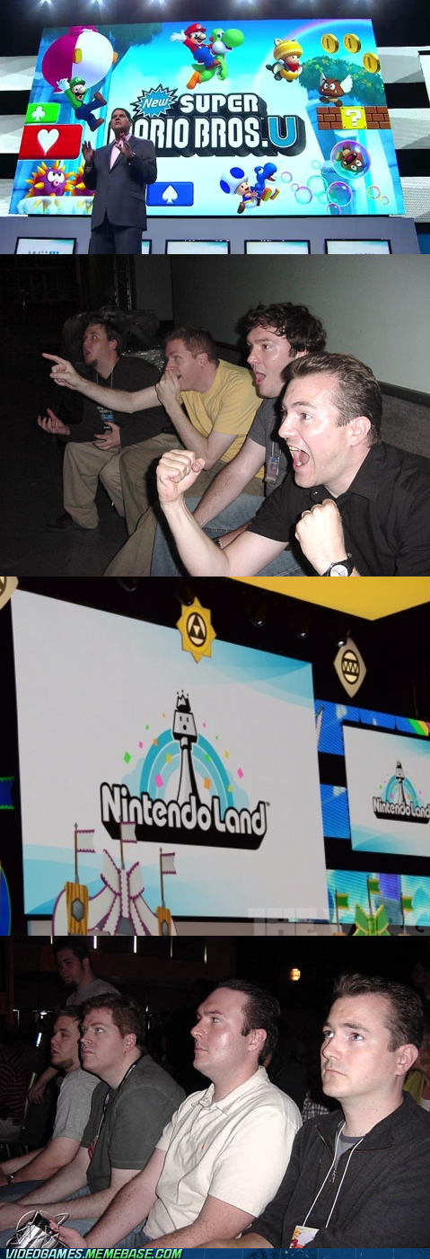 e3,nintendo,nintendo land,reaction guys,wtf