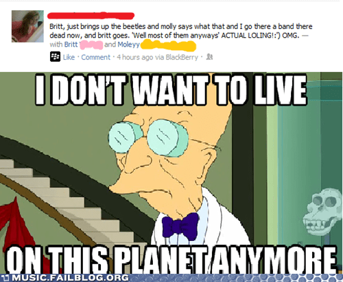 beatles dead i-dont-want-to-live-on-t i dont want to live on this planet anymore the Beatles - 6299985152