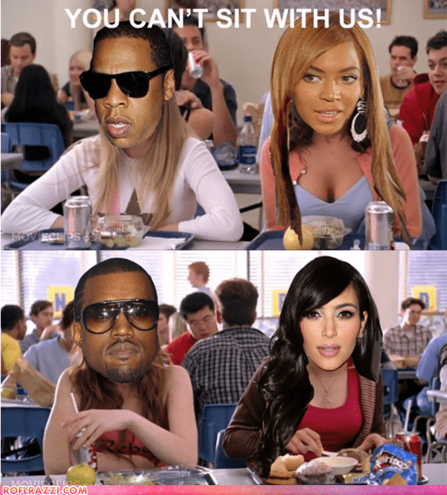 beyoncé,celeb,funny,Jay Z,kanye west,kim kardashian,mean girls,Movie,Music,shoop
