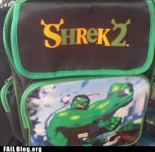 backpack hulk shrek 2 - 6300131328