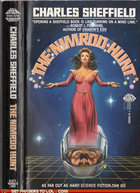 book covers,books,cover art,helmet,hunt,nimrod,science fiction,wtf