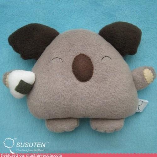 koala nori Plushie rice seaweed sushi - 6300196864