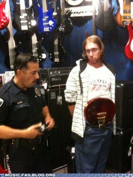 FAIL guitar pants shoplifting - 6300197888