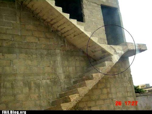 construction fail stairs steps