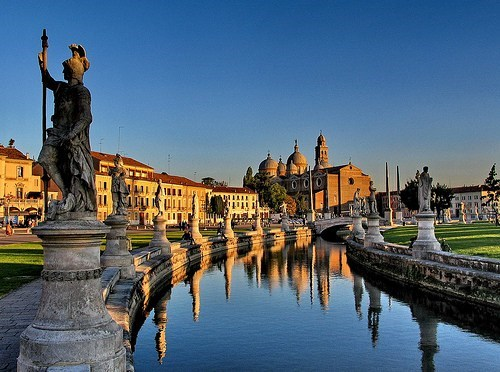 architecture,canal,Italy,statues
