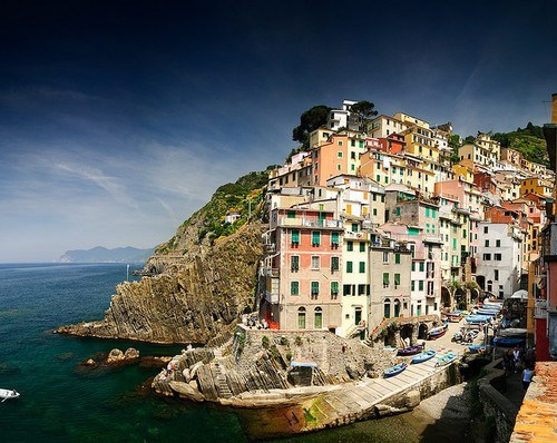 architecture cliff Italy ocean seaside - 6300336384