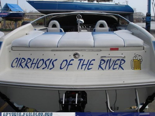 beer,boat,boating,cirrhosis,cirrhosis of the liver,cirrhosis of the river,river,yacht