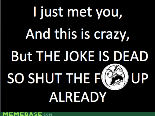 call me maybe dead joke Rage Comics - 6300528896