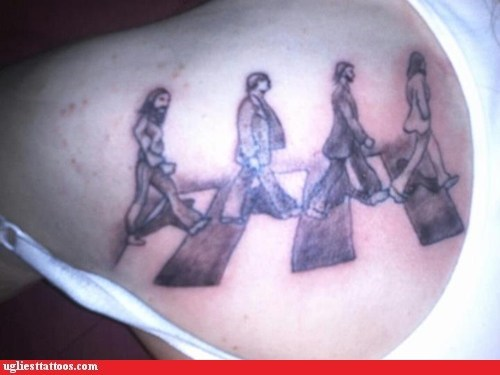 abbey road shoulder tattoos the Beatles