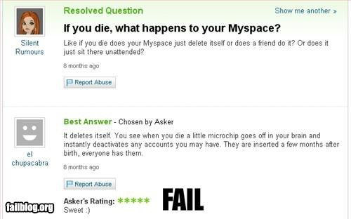 answers Death Hall of Fame myspace questions social media - 6300776192