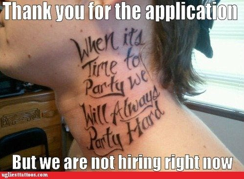 job application,lyrics,party hard,rejection