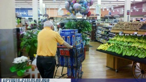 30 bomb 30 pack 30 rack bro bud light case of beer grocery store old guy old man - 6301045248