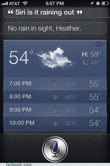 no rain in sight rain siri weather - 6301125376