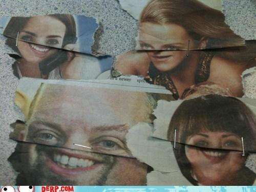 derp,mouths,news paper