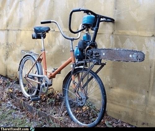 bath salts bicycle bike chainsaw saw zombie apocalypse - 6301254912