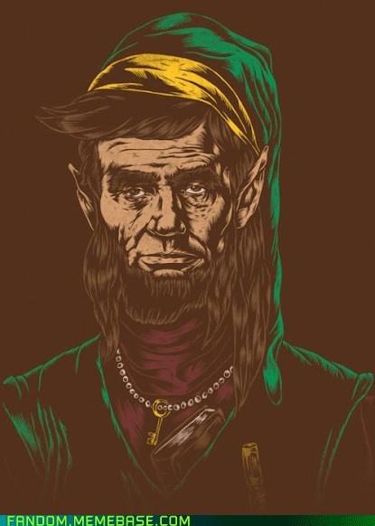 Abe Lincoln Fan Art legend of zelda link video games - 6301432320