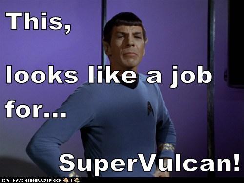job Leonard Nimoy pose Spock Star Trek superhero superman - 6301660928