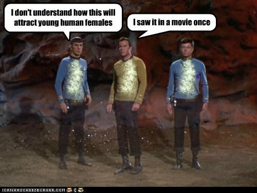 attractive Captain Kirk DeForest Kelley Leonard Nimoy McCoy Movie Shatnerday Sparkle Spock Star Trek William Shatner - 6301777408
