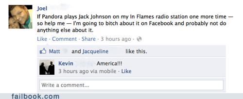 america,jack johnson,pandora,whining