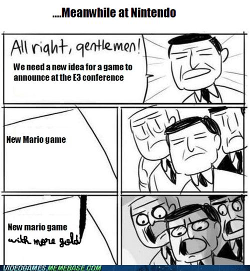 e3 gold mario meme nintendo pikmin 3 - 6302431744