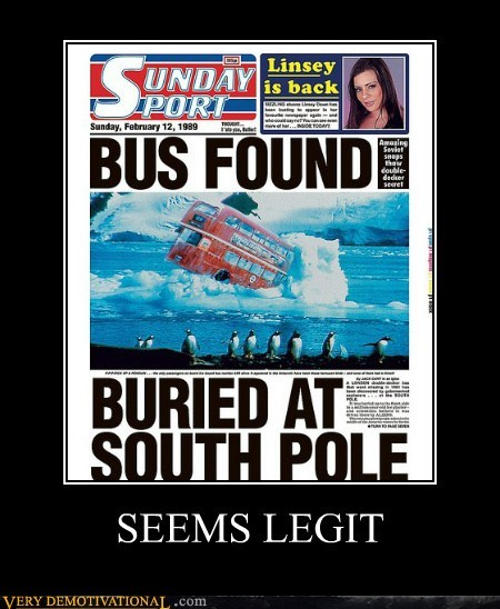 antarctica,bus,hilarious,seems legit,south pole