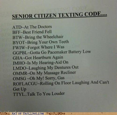 chat speak old people sms texting - 6302632448