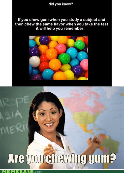 flavor gum memory subject Terrible Teacher test - 6302716928