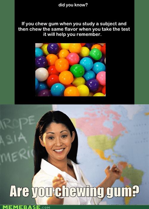 flavor gum memory subject Terrible Teacher test - 6302716928