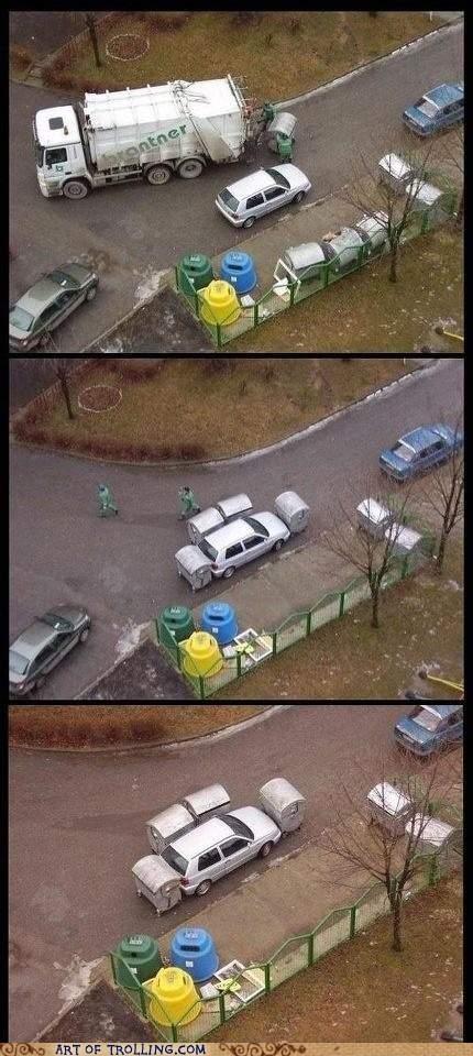 awesome garbage IRL parking - 6302795264