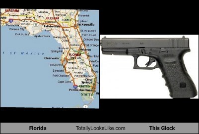 florida funny geography glock gun state TLL weapon - 6303045376