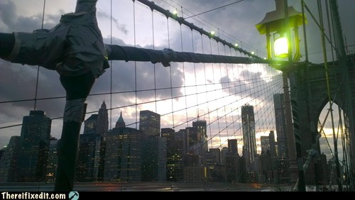 bridge brooklyn Brooklyn Bridge duct tape new york city nyc - 6303076352