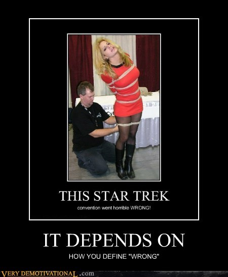convention hilarious Sexy Ladies Star Trek tied up - 6303298816