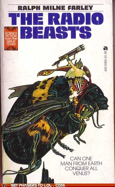 bee,book cover,books,cover art,fly,giant,radio,science fiction,venus,wtf