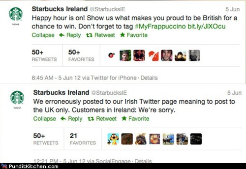britain FAIL Hall of Fame Ireland oops political pictures Starbucks twitter - 6303747840