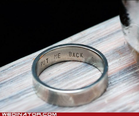 funny wedding photos infidelity rings wedding rings